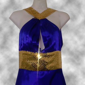 Sequined Evening Gown By Beautifly - Size 6